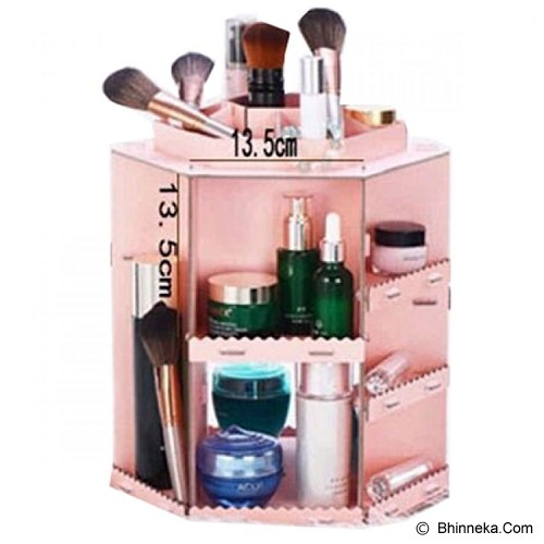 LN SHOP Rotating Cosmetic Box - Pink - Tas Kosmetik / Make Up Bag