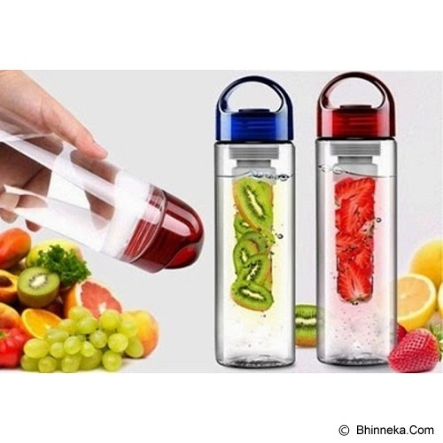 LN SHOP Tritan Infuser Water Bottle - Red - Botol Minum