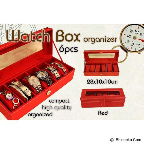 LN SHOP Watch Organizer - Red - Jewelry Organizer