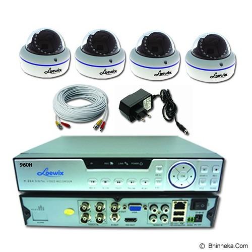 LOEWIX Paket 4 Kamera CCTV AHD 1,3MP - Cctv Camera
