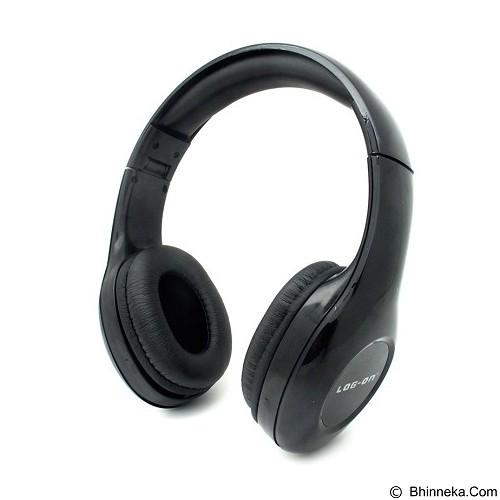 LOG ON InTone Stereo Headphones Headset With Microphone [LO-NB-680] - Black (Merchant) - Headphone Portable