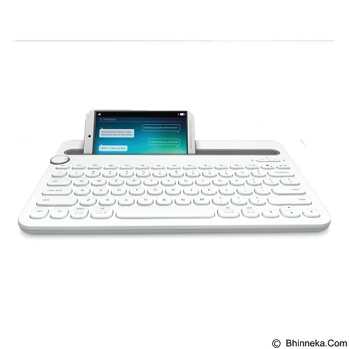 LOGITECH Bluetooth Multi-Device Keyboard K480 [920-006343] - White (Merchant) - Keyboard Basic