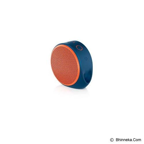 LOGITECH Mobile Wireless Speaker X100 [984-000371] - Blue/Orange Grill - Speaker Bluetooth & Wireless