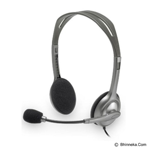 LOGITECH Stereo Headset H111 [981-000588] - Black (Merchant) - Headset Pc / Voip / Live Chat