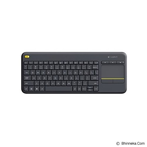 LOGITECH Wireless Touch Keyboard K400 Plus - Black (Merchant) - Keyboard Desktop