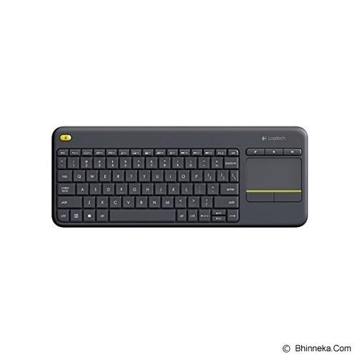 LOGITECH Wireless Touch Keyboard K400 Plus - Black (Merchant) - Keyboard Desktop