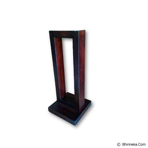 LOKI Wood Headphone Stand [HS-01] - Dark Brown - Gadget Docking