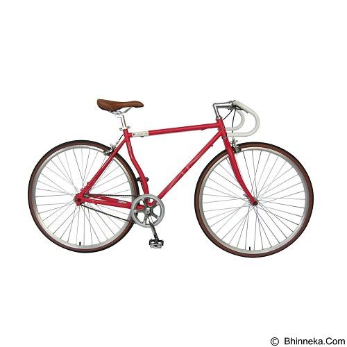 LONDON TAXI Roadbike 700C - Steel Red - Sepeda Balap / Racing Bike