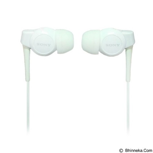 LONG CELL Sony Stereo Handsfree Earphone EX Monitor [MH-EX300AP] - White - Earphone Ear Monitor / Iem