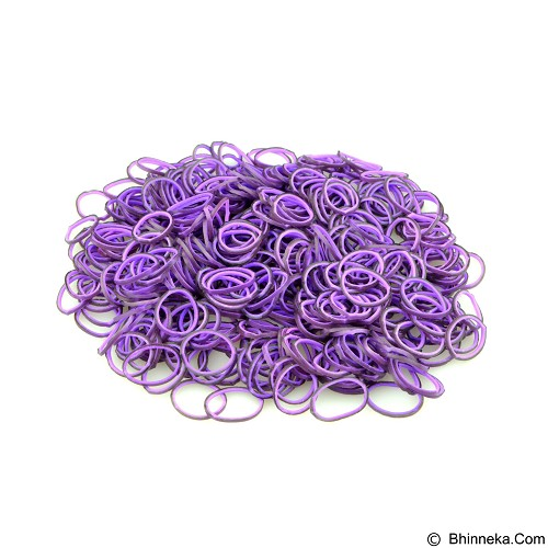 LOOM BANDS Rainbow Loom - Two Layer Purple Black (Merchant) - Beauty and Fashion Toys
