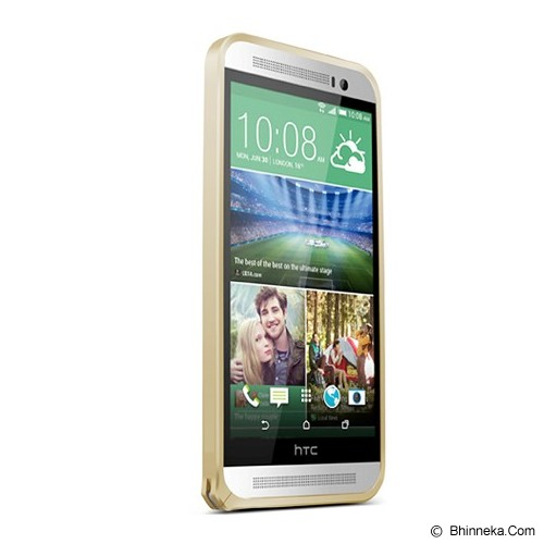 LOVE MEI Bumper HTC One E8 - Champagne Gold - Casing Handphone / Case