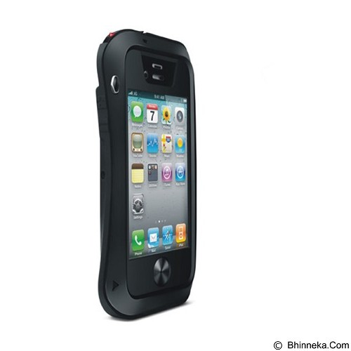 LOVE MEI Lunatik Powerful Case For Apple iPhone 4/4S - Black - Casing Handphone / Case