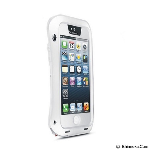 LOVE MEI Lunatik Powerful Case For Apple iPhone 5/5S - White - Casing Handphone / Case