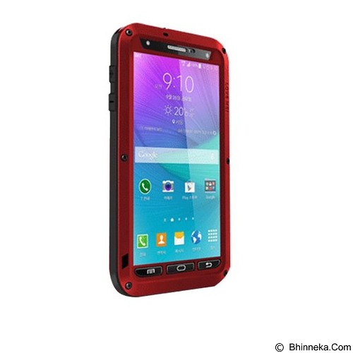 LOVE MEI Lunatik Powerful Case For Samsung Galaxy Note 4 - Red - Casing Handphone / Case
