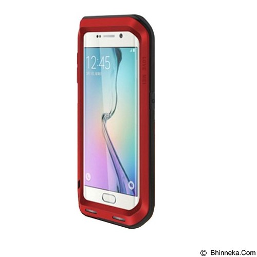 LOVE MEI Lunatik Powerful Case For Samsung Galaxy S6 Edge - Red - Casing Handphone / Case