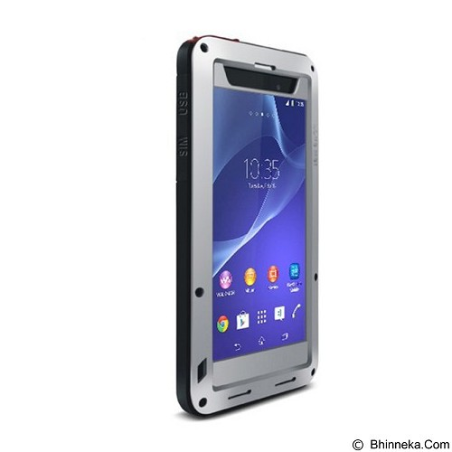 LOVE MEI Lunatik Powerful Case For Sony Xperia Z2 - Silver - Casing Handphone / Case