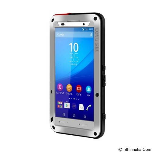 LOVE MEI Lunatik Powerful Case For Sony Xperia Z3+/Z4 - Silver - Casing Handphone / Case