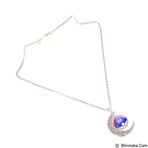 LOVELYNA STORE Pokemon GO Moon Shape Pendant Necklace [LS02376D] - Blue (Merchant) - Kalung / Necklace