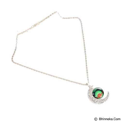 LOVELYNA STORE Pokemon GO Moon Shape Pendant Necklace [LSP1023767] - Green (Merchant) - Kalung / Necklace