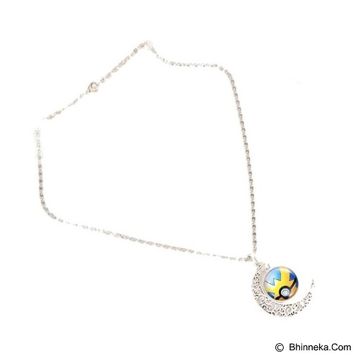 LOVELYNA STORE Pokemon GO Moon Shape Pendant Necklace [LSP1023768] - Blue Yellow (Merchant) - Kalung / Necklace