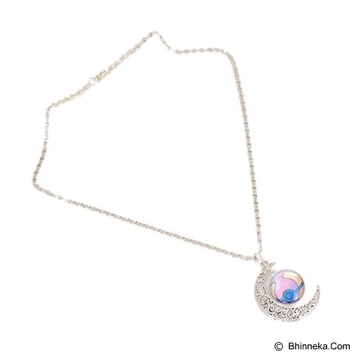 LOVELYNA STORE Pokemon GO Moon Shape Pendant Necklace [LSP1023769] - Light Purple (Merchant) - Kalung / Necklace
