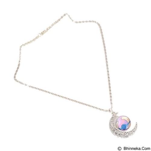 LOVELYNA STORE Pokemon GO Moon Shape Pendant Necklace [LSP1023769] - Light Purple (Merchant) - Kalung / Necklace