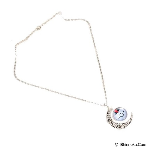 LOVELYNA STORE Pokemon GO Moon Shape Pendant Necklace [LSP102376B] - White (Merchant) - Kalung / Necklace