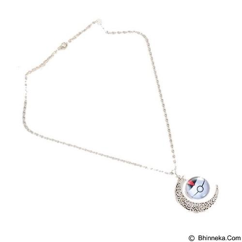 LOVELYNA STORE Pokemon GO Moon Shape Pendant Necklace [LSP102376B] - White (Merchant) - Kalung / Necklace