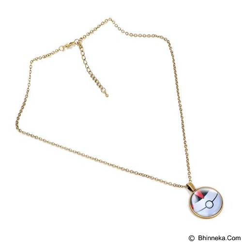 LOVELYNA STORE Pokemon GO Moon Shape Pendant Necklace [LSP1023773] - Gold (Merchant) - Kalung / Necklace
