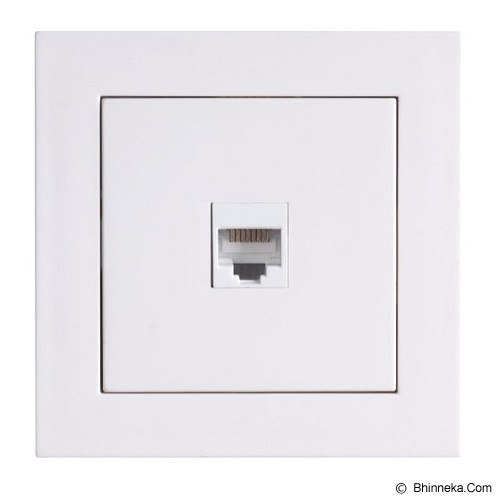 LUMITEK 1 Socket RJ 45 cat 5e (8/8) [LM601035] - Faceplate