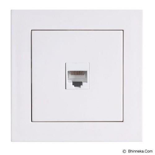 LUMITEK 1 Socket RJ 45 cat 5e (8/8) [LM601035] - Faceplate