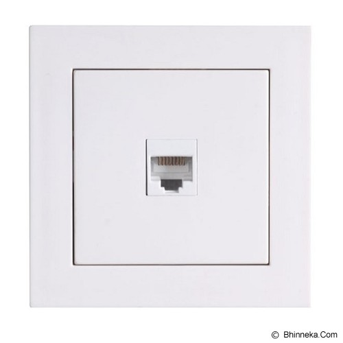 LUMITEK 1 Socket RJ (6/4) [LM601033] - Faceplate