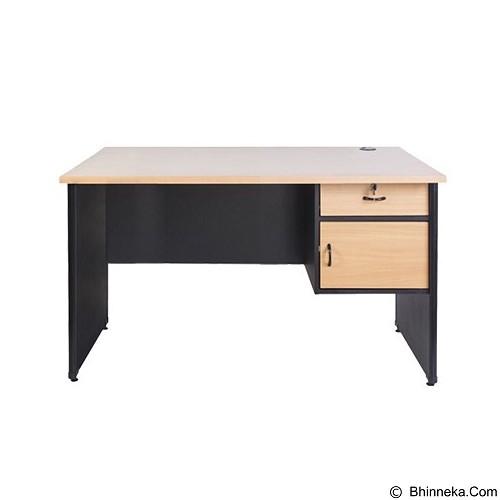 LUNAR Meja Kantor [QD 1275 L] - Beech (Merchant) - Meja Kantor