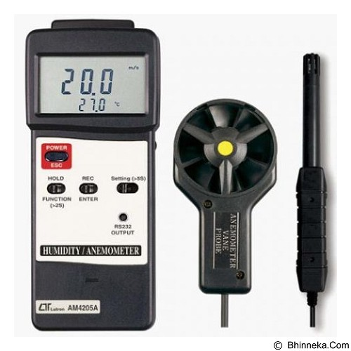 LUTRON Anemometer & Humidity Meter [AM-4205A] - Tester Listrik