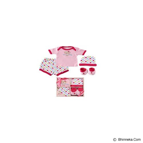 LUVABLE FRIENDS Baby Layette Gift Set Size 0-6 Months Girl - Setelan / Set Bepergian/Pesta Bayi dan Anak