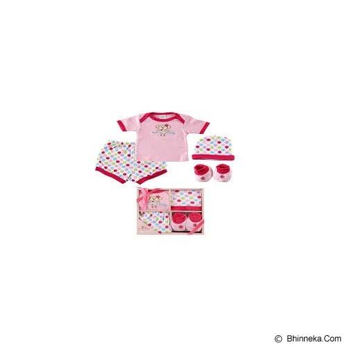 LUVABLE FRIENDS Baby Layette Gift Set Size 0-6 Months Girl - Setelan / Set Bepergian/Pesta Bayi dan Anak