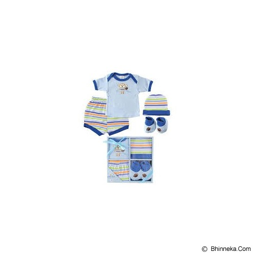 LUVABLE FRIENDS Baby Layette Gift Set Size 0-6 Months Boy - Setelan / Set Bepergian/Pesta Bayi dan Anak
