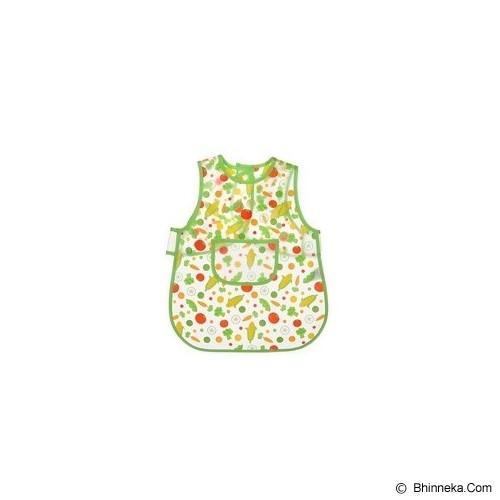 LUVABLE FRIENDS Easy Clean Baby Apron Bib - Green - Celemek Bayi / Bib