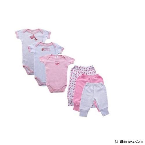 LUVABLE FRIENDS Grow With Me Baby Clothing Gift Set Girl - Setelan / Set Bepergian/Pesta Bayi dan Anak