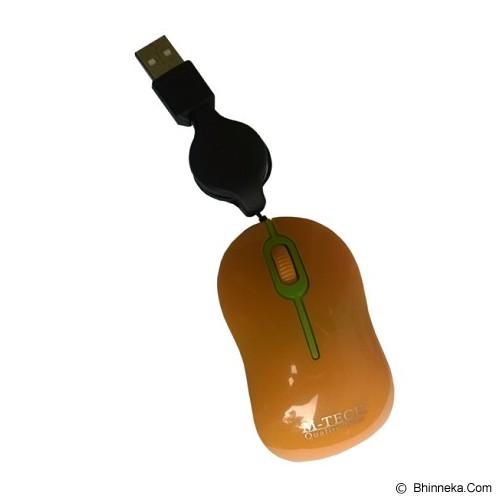 M-TECH Mouse Retract - Orange - Mouse Basic