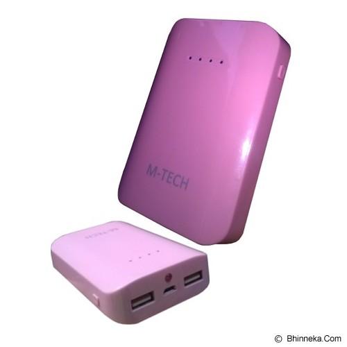 M-TECH Powerbank 6600mAh - Pink - Portable Charger / Power Bank