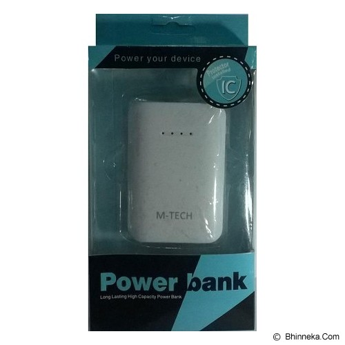 M-TECH Powerbank 6600mAh - White - Portable Charger / Power Bank