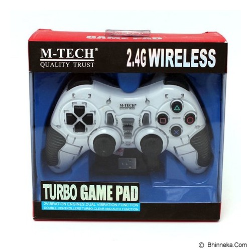 M-TECH Turbo Pad Wireless Gamepad - White (Merchant) - Gaming Pad / Joypad