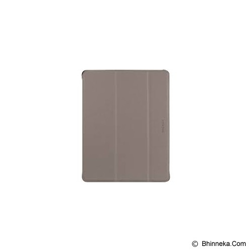 MACALLY Protective Case Stand For Apple iPad (3rd Generation) [MCLBOOKSTAND3M] - Khaki/Tan Black Trim - Casing Tablet / Case