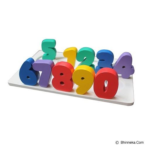 MAINAN KAYU EDUKATIF Puzzle Chunky Angka 0-9 - Wooden Toy