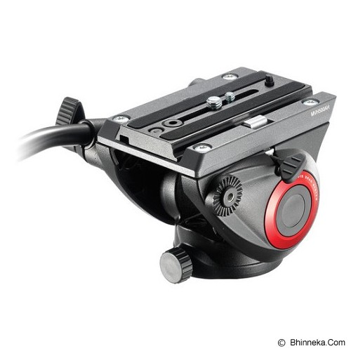 MANFROTTO Fluid Video Head Flat Base [MVH500AH] - Tripod Combo With Head