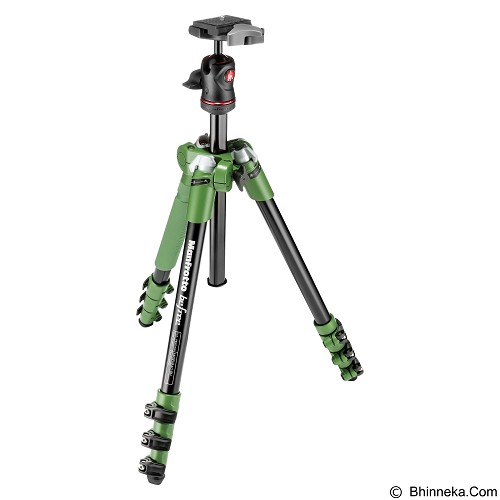 MANFROTTO Tripod Befree Compact Travel Aluminum Alloy - Green - Tripod Combo With Head