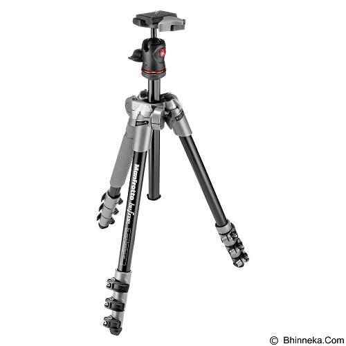 MANFROTTO Tripod Befree Compact Travel Aluminum Alloy - Grey - Tripod Combo With Head