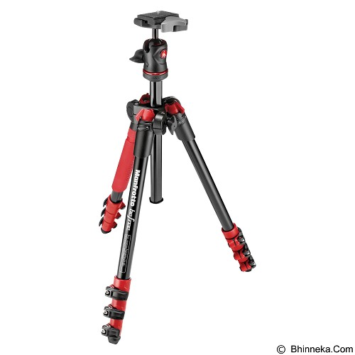 MANFROTTO Tripod Befree Compact Travel Aluminum Alloy - Red - Tripod Combo with Head