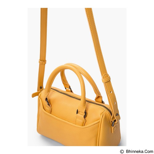 MANGO Cross-body Pebbled Bag [1827] - Yellow (Merchant) - Tas Tangan Wanita
